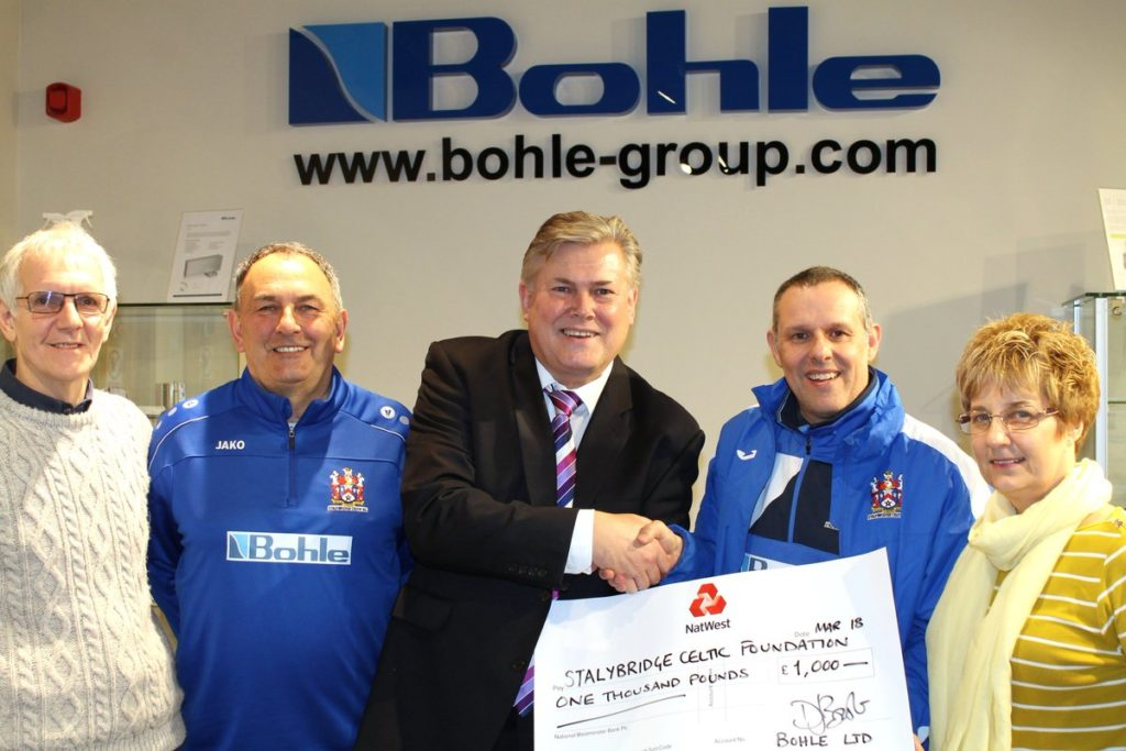 Bohle sponsorship of Stalybridge Celtic Foundation